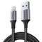 UGREEN USB 2.0 A/M TO LIGHTING CABLE 1M (NYLON), IPHONE CABLE, MFI CABLE