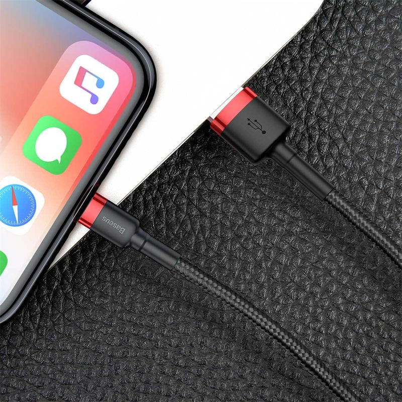 BASEUS CAFULE CABLE USB FOR LIGHTNING 2.4A 1M, Cable , Lightning Cable , iPhone Data Cable , iPhone Charging Cable , iPhone Lightning Cable , iphone charging cable , best lightning cable for iPhone ,iPhone Cable , iPhone USB Cable
