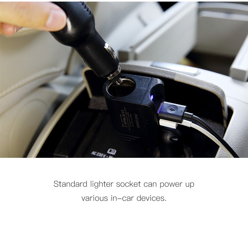 ROCK 2 in 1 Car Charger with Lighter Socket