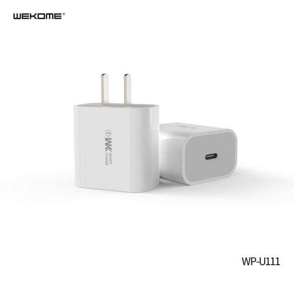 WK WP-U111 WITDEER SERIES PD FAST CHARGER ONLY (20W) , 20W PD ,Fast/Quick Charger , USB C iPhone12 /12 Mini /12 Pro /12 Pro Max/ iPhone 11 / Fast Charging / Type C to Lightning , iPhone Charger / USB C Power Adapter / Type C Wall Charger