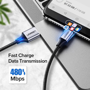 UGREEN OFFICIAL 3A Fast Charging Type-C Data Cable