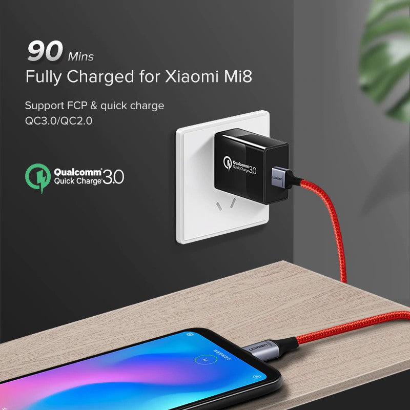 UGREEN OFFICIAL USB A to USB C Fast Charging Cable,Cable , Type C Cable, USB Type C Cable , USB C Charger Cable , Type C Data Cable , Type C Charger Cable ,Fast Charge Type C Cable , Quick Charge Type C Cable , the best USB C Cable