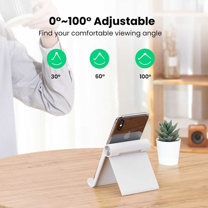 UGREEN OFFICIAL Multi Angle Desk Tablet Stand, Tablet holder, Tablet Holder Mobile Phone Stand Holder, Lazy,phone holder stand,Adjustable Phone Holder ,Tablet Universal Mobile Phone Holder , TikTok Stand Live Stand Holder for PHONE ,TABLET,all in one