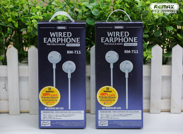 REMAX WIRED MUSIC EARPHONE(RM-711),Earphone,Wired Earphone ,Best wired earphone with mic ,Hifi Stereo Sound Wired Headset ,sport wired earphone ,3.5mm jack wired earphone ,3.5mm headset for mobile phone ,universal jack wired earphone,ကြိုးနားကြပ်,နားကြပ်