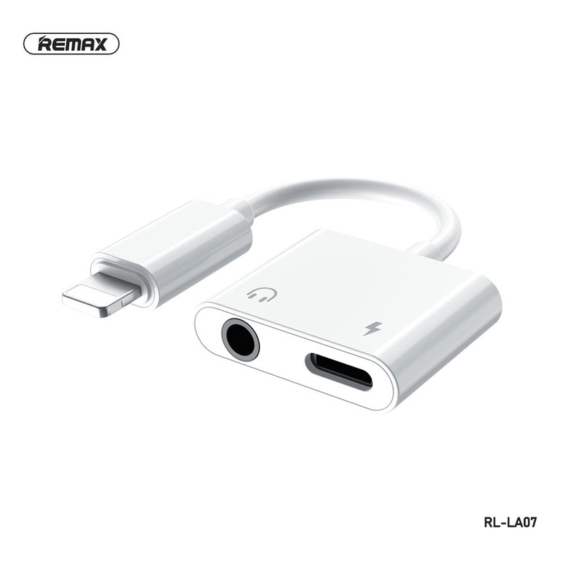 REMAX -RL-LA07 2.0A CONCISE SERIES 3.5MM & LIGHTNING AUDIO ADAPTER,Phone Audio Adapter,iPhone 7 Adapter,iPhone 8 plus Headphone Jack,Lightning to 3.5 mm,Audio Connector for iPhone 7/8/8 plus/X/XS/XR /11/11 Pro/11 Pro Max/12/12 Pro/12 Pro Max