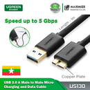 UGREEN-US130 USB 3.0 A Male to Micro B Male Cable Super Speed Charging and Data Sync Cord (1m) Black - Intl