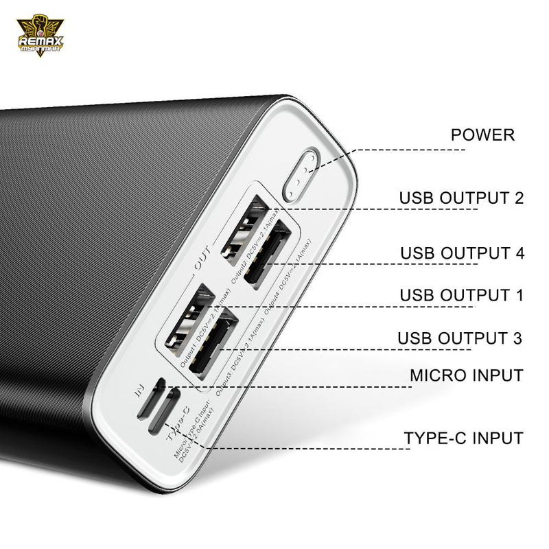 REMAX-RPP-154 30000MAH BODI SERIES POWER BANK , PowerBank 30000mAh,30000mAhpowerbank ,  Power Bank 30000mAh ,Safest Power Bank , Best Power Bank for iPhone , Android , Xiaomi , Samsung , Huawei , All in one