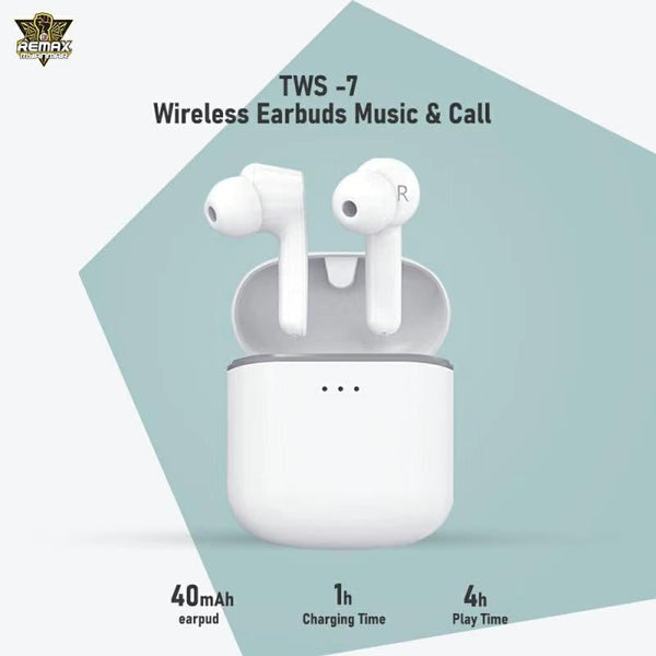 Remax TWS-7 Wireless Earbuds TWS Bluetooth , TWS Earbuds , Wireless Earbuds , TWS Earphones , TWS i12 , Best Wireless Earbuds for iPhone , Android , Budget wireless earbuds