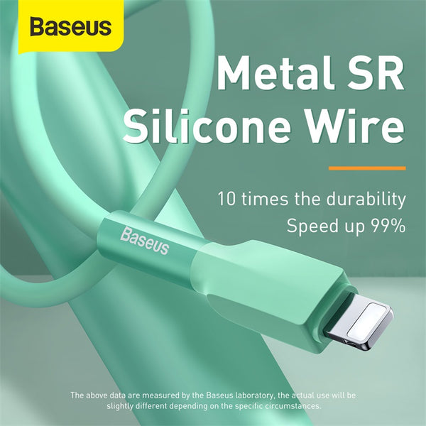 BASEUS SILICA GEL CABLE USB FOR IPhone 1M,  Cable , Lightning Cable , iPhone Data Cable , iPhone Charging Cable , iPhone Lightning Cable , iphone charging cable , best lightning cable for iPhone ,iPhone Cable , iPhone USB Cable