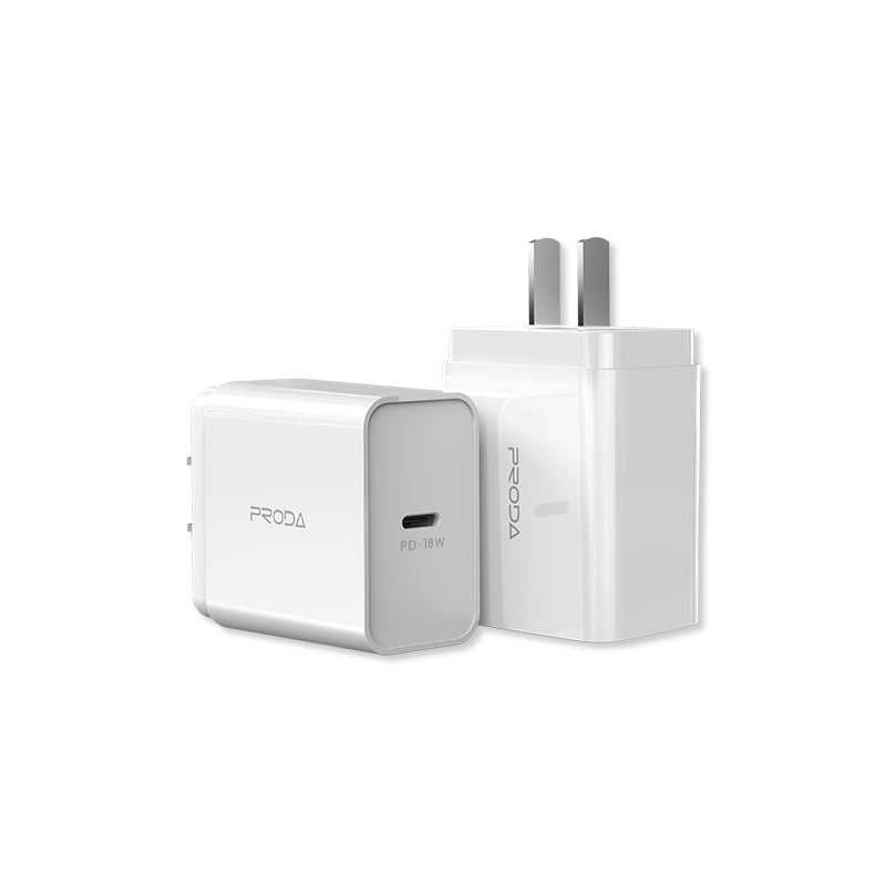 PRODA-PD-A16  SINGEE SERIES PD FAST CHARGING 18-W TRAVEL ADAPTER WITH I5 CABLE SET