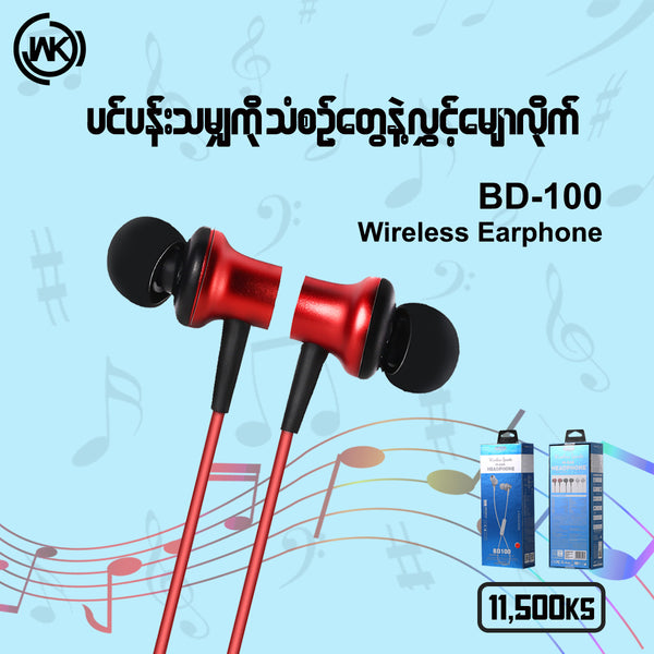 BD 100 BLUETOOTH EARPHONE