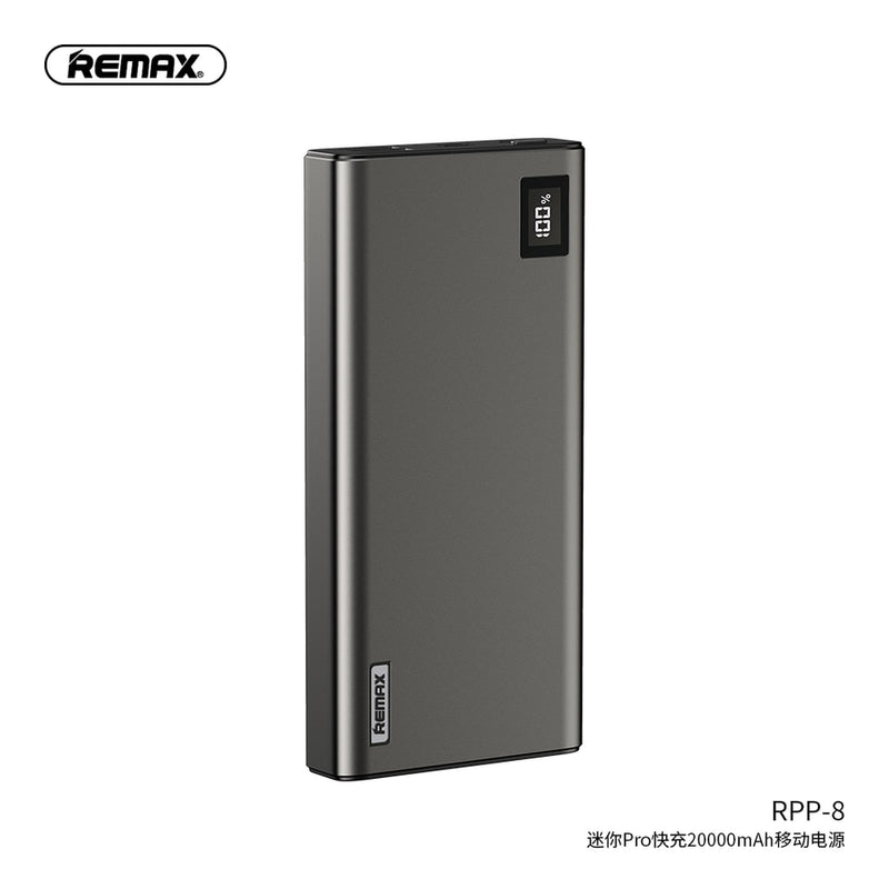 REMAX-RPP-8 20000MAH MINI PRO SERIES POWER BANK PD18W&QC3.0A,Powerbank,Powe Bank 20000mah,20000mah Power Bank,20000mah Powerbank,20W PD Power Bank ,Type C Power Bank,Apple Power Bank ,Best Power Bank For iPhone,Fast Charger Power Bank ,USB C Power Bank