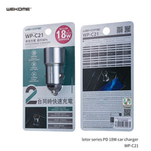 Load image into Gallery viewer, WK---LETOR PD 18W CAR CHARGER (WP-C21)