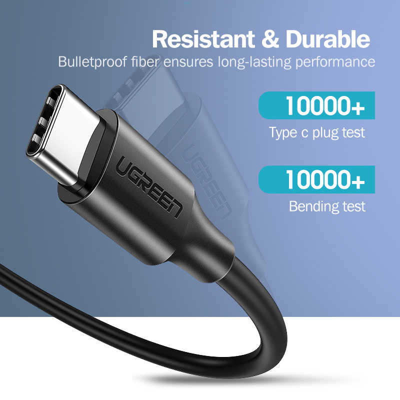 UGREEN OFFICIAL 60W USB C to USB Type-C Cable PD QC 4.0 Fast Charge Data Cable,C TO C  Data Cable ,Type C to Type C Fast Charging Cable , USB C Cable , PD Cable , PD Port , C to C Cable Samsung , Xiaomi , Apple , Huawei