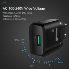 Load image into Gallery viewer, T12 Single Port QC 3.0 Travel Charger