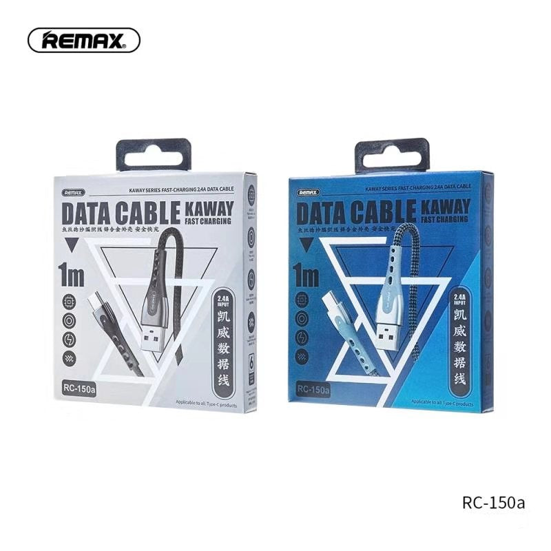 REMAX --RC-150(TYPE-C) KAYWAY FAST CHARGING SERIES 2.4A DATA CABLE,Cable,Type C Cable for Andorid,USB Type C Cable,USB C Charger Cable,Type C Data Cable,Type C Charger Cable,Fast Charge Type C Cable,Quick Charge Type C Cable,the best USB C Cable