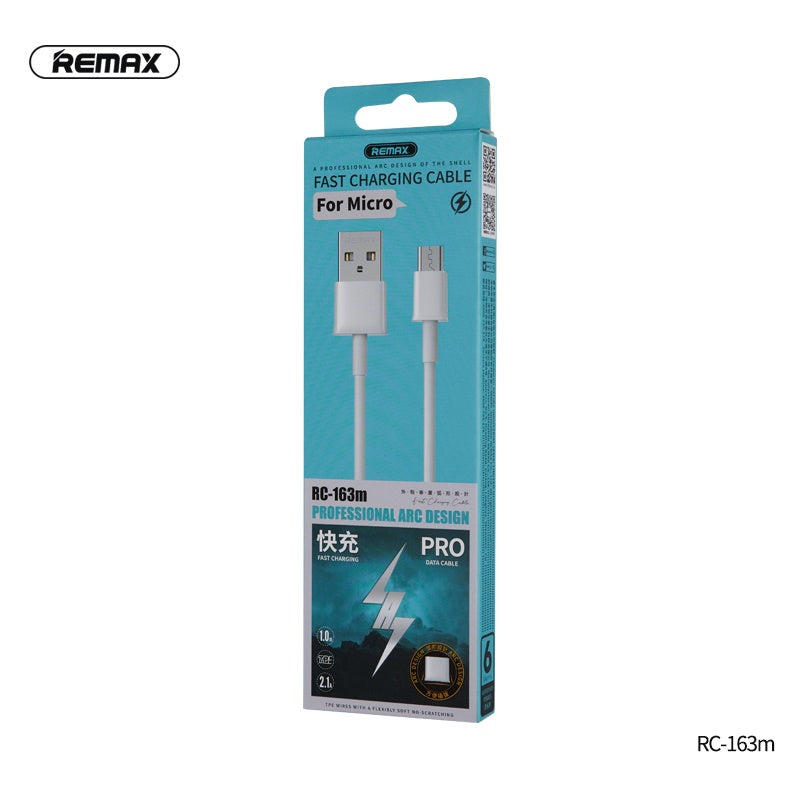 REMAX-RC-163M FAST CHARGING PRO SERIES DATA CABLE FOR MICRO ,Cable,Micro Cable ,Micro Charging Cable ,Micro USB Cable ,Android charging cable ,USB Charging Cable ,Data cable for Andorid,Fast Charging Cable ,Quick Charger Cable ,Fast Charger USB Cable
