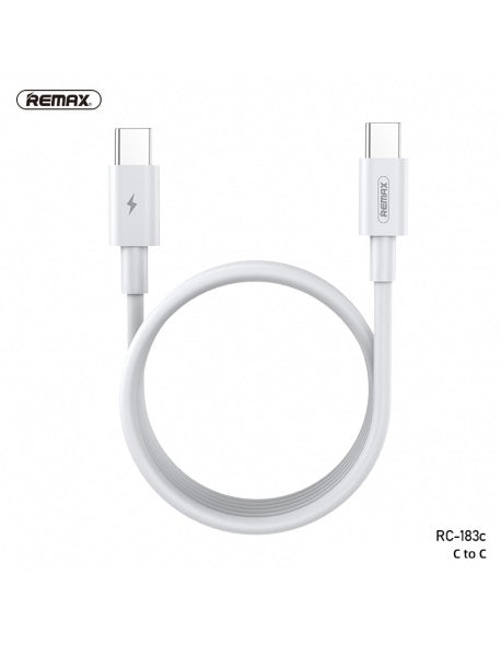 REMAX-RC-183C MARLIK SERIES 100W PD FAST-CHARGING DATA CABLE TYPE-C TO TYPE-C,C TO C  Data Cable ,Type C to Type C Fast Charging Cable , USB C Cable , PD Cable , PD Port , C to C Cable Samsung , Xiaomi , Apple , Huawei