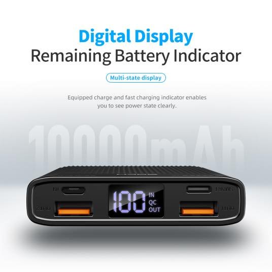 ROCK 10000mAh POWER MAX PD CHARGE 10000mAh (18W),18W Power Bank, PD Power Bank,Fast Charge Power Bank , USB C Power Bank , High Capacity Power Bank ,10000 Mah Power Bank , Power Bank 10000 Mah, 10000 Mah Powerbank, Powerbank,Power Bank , Best Power Bank