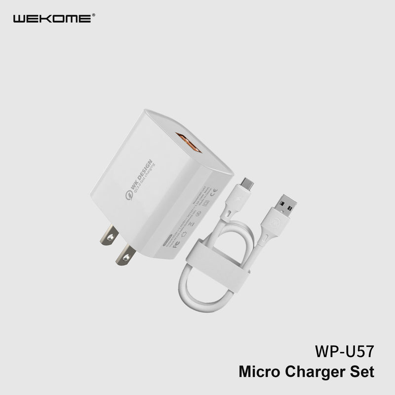 WK WP-U57 (IPH) MAXSPEED FAST CHARGER SET WITH IPH CABLE ,Charger , USB Phone Charger , Mobile Phone Charger , Smart Phone Charger , Andriod Phone Charger , Muti port usb charger , quick charger , cell phone charger , wall charger , Portable Charger