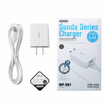 Load image into Gallery viewer, WK--(MICRO) SUNDA SERIES CHARGER WITH DATA CABLE(SET)(WP-U61M)