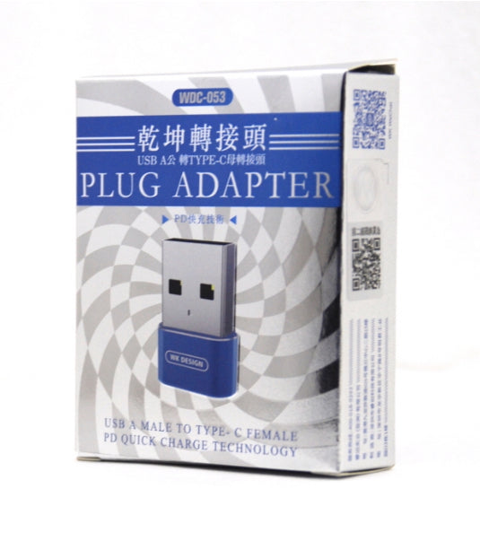 WK UNIVERSE PLUG ADAPTER USB A MALE TO TYPE-C FEMALE(WDC-053)