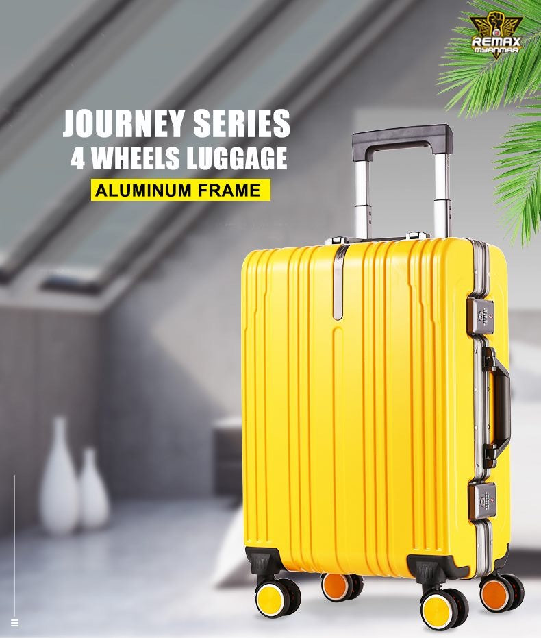 REMAX LIFE -RL-SCO1 JOURNEY SERIES 20 INCH ALUMIN FRAME LUGGAGE,Aluminum Frame Suitcas,Travel Luggage Suitcase,4 Wheel Luggage,Extra Large Hard Suitcase,Carry-On Suitcase,Swiss Gear Luggage,Backpack Suitcase,Primark Luggage Suitcases,Trolley Suitcase