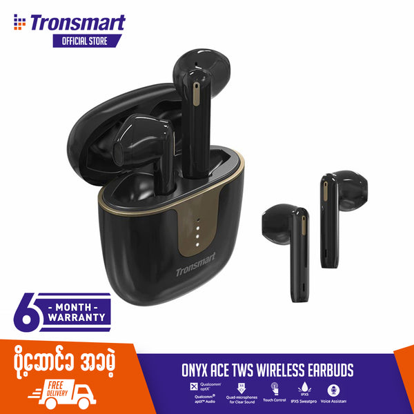TRONSMART ONYX ACE TRUE WIRELESS BLUETOOTH EARBUDS TWS Bluetooth , TWS Earbuds , Wireless Earbuds , TWS Earphones , TWS i12 , Best Wireless Earbuds for iPhone , Android , Budget wireless earbuds