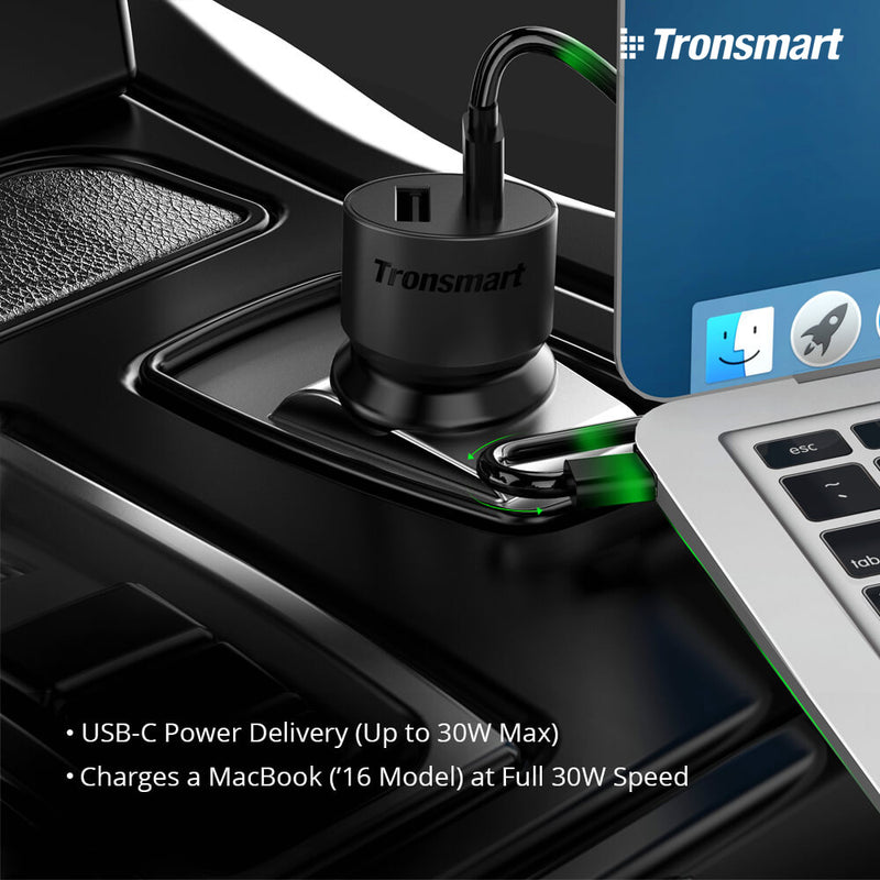 Tronsmart-C2P 42W USB PD Car Charger,Car Charger , Car Charger Adapter , USB Car Charger , Fast Car Charger  , Lightning Car Charger , Android Car Charger , Cigarette Lighter iPhone Car Charger , ကားအားသွင်းခေါင်း