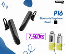 WK P16 Bluetooth Earphone , Single Bluetooth Earphone, Wireless Bluetooth Headset , Single Bluetooth Earbuds for music , Mono Bluetooth Headset , Best noise canceling Bluetooth Headset , Cheap Bluetooth Headset , ကြိုးမဲ့ဘလူးတုနားကြပ်