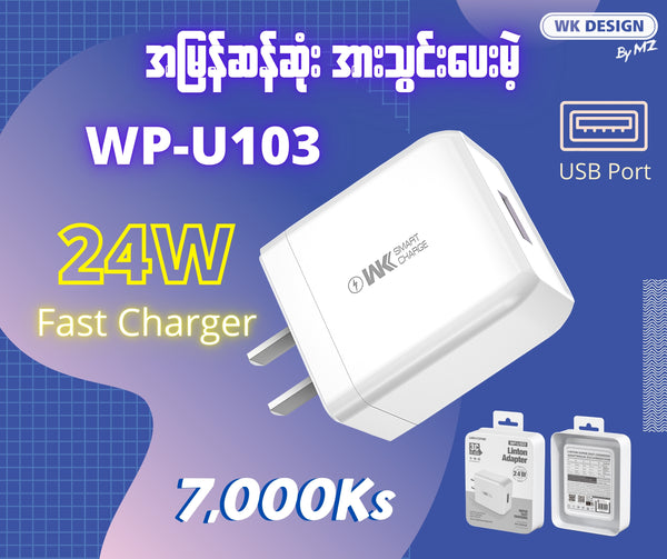 WK WP-U103 LINTON SUPER FAST CHARGING ADAPTER