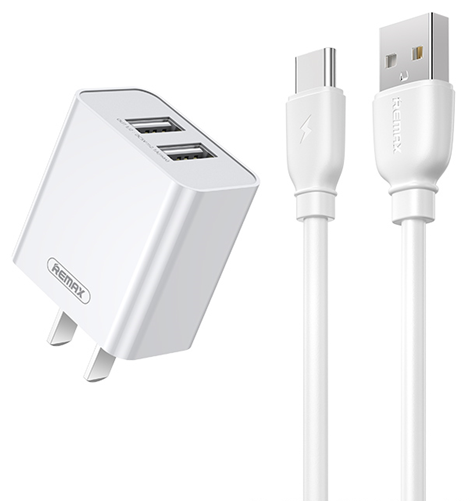 REMAX--RP-U51(TYPE-C) ELVES SERIES 2.1A DUAL CHARGER SET RP-U51(TYPE-C),Charger,USB Phone Charger,Mobile Phone Charger,Smart Phone Charger, Muti port usb charger,quick charger,fast charger,the best usb phone charger,wall charger,Portable Charger
