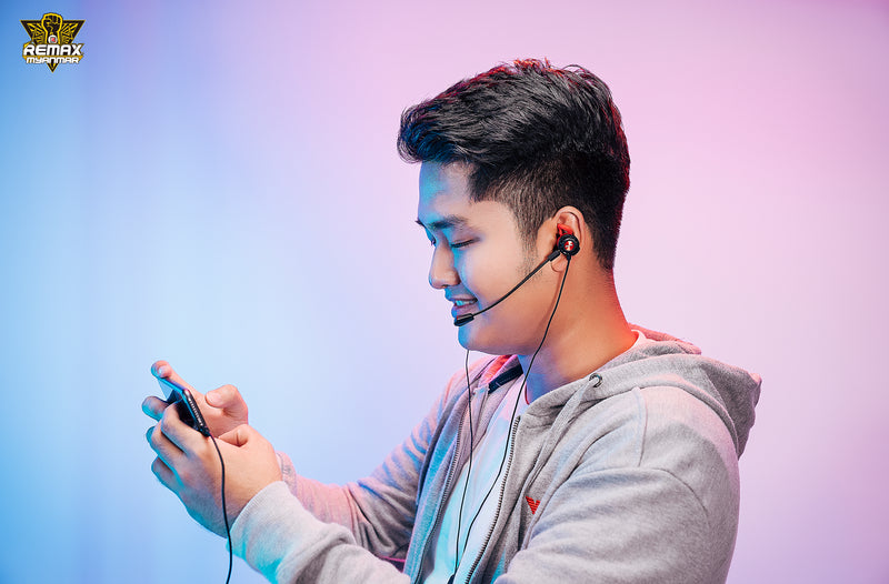REMAX--RM-750 IPH GAMING ကြိုးနားကြပ် Gaming Earphone with mic ,Stereo Headset ,Gaming headset,Wired Headset for PUBG Gamer , Best Gaming Earphone for PUBG
