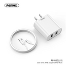 REMAX - RP-U35(MIC) JANE SERIES 2.1A DUAL USB CHARGER SET RP-U35M,USB Phone Charger,Mobile Phone Charger,Smart Phone Charger,Andriod Phone Charger , Muti port usb charger,quick charger,fast charger,the best usb phone charger,wall charger,Portable Charger