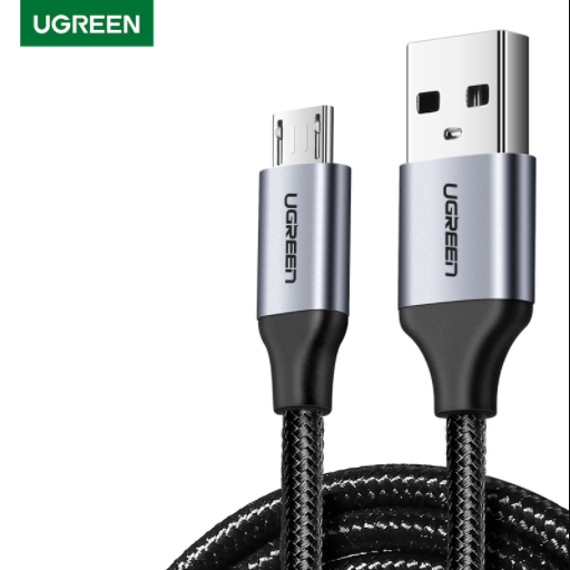 UGREEN OFFICIAL MICRO USB 2.0 CABLE 1M (METAL),Cable , Micro Cable , Micro Charging Cable , Micro USB Cable , Android charging cable , USB Charging Cable , Data cable, Fast Charging Cable , Quick Charge Cable , Fast Charge USB Cable