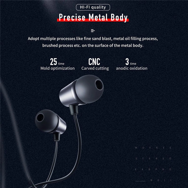 Mufree Stereo Earphone,Earphone , Wired Earphone , Best wired earphone , Hifi Stereo Sound Wired Headset , sport wired earphone , 3.5mm jack wired earphone , 3.5mm headset for mobile phone ,3.5mm jack wired earphone , ကြိုးနားကြပ် , နားကြပ်