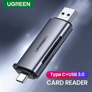 UGREEN OFFICIAL Card Reader USB 3.0 Type C to SD Micro SD TF Adapter