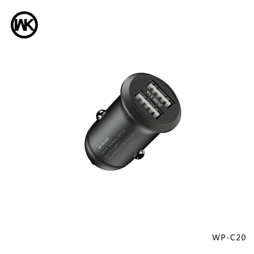 CAREE SERIES CAR CHARGER 2USB 3.1A WP-C20