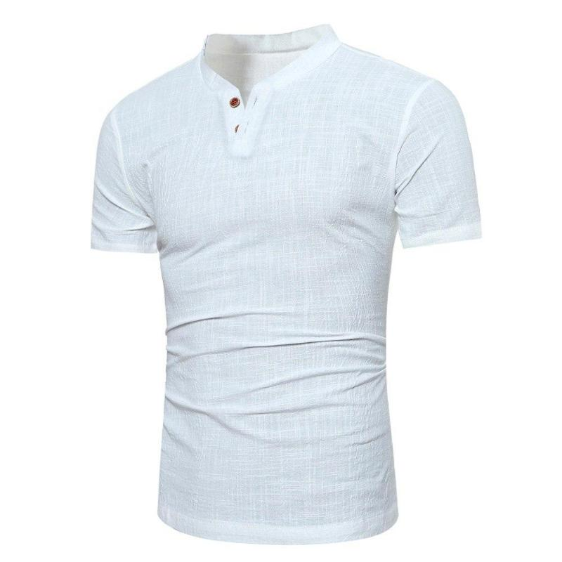 Casual Buttoned T-Shirt