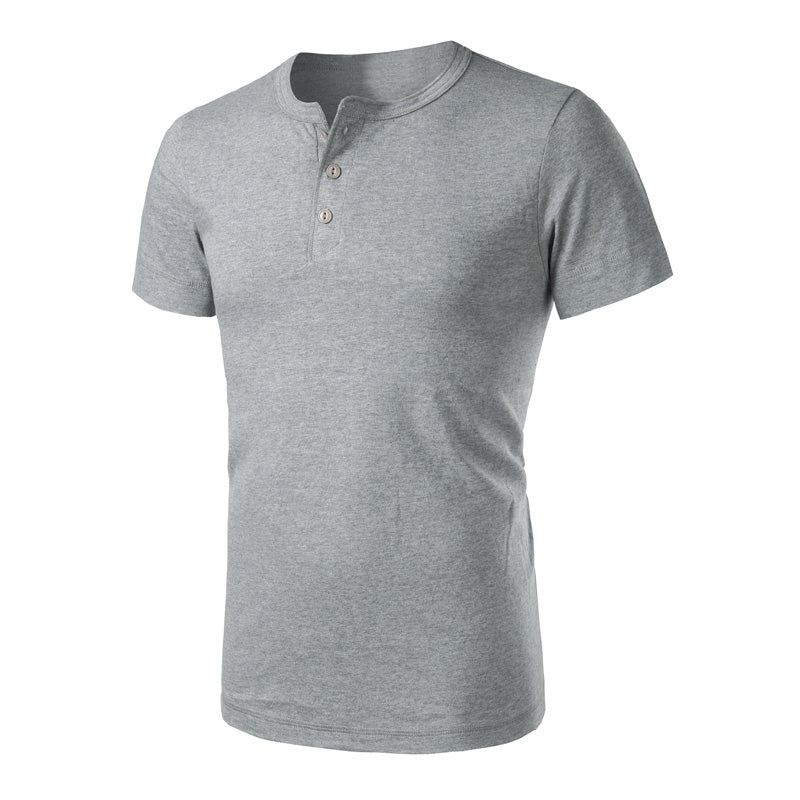 Vintage Short Sleeve Henley T-Shirt