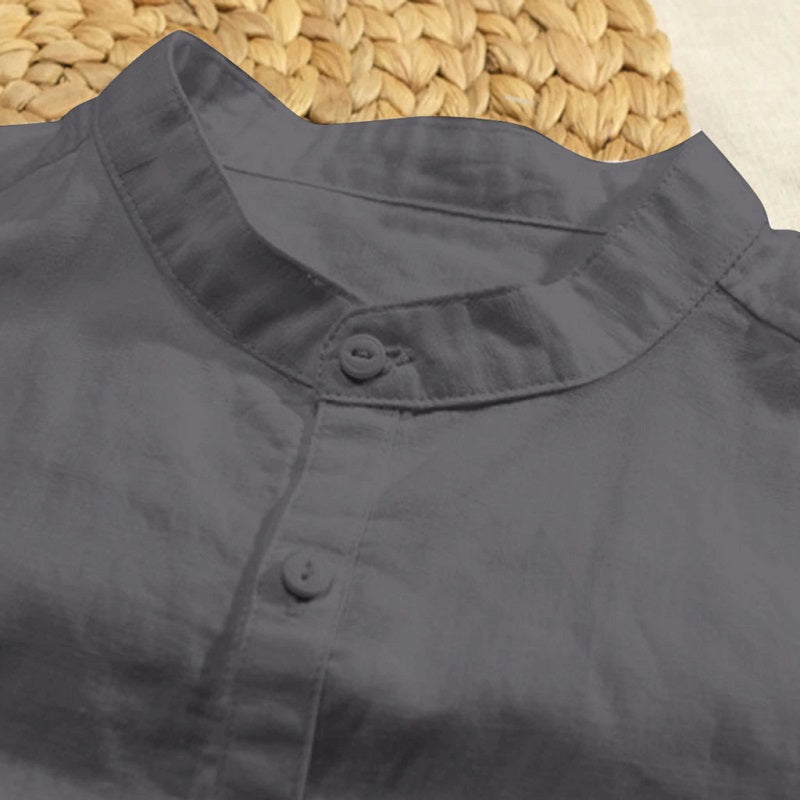 Basic Breathable Linen Shirt