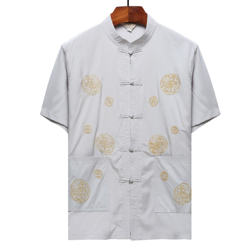 Traditional Mandarin Collar Shirt
