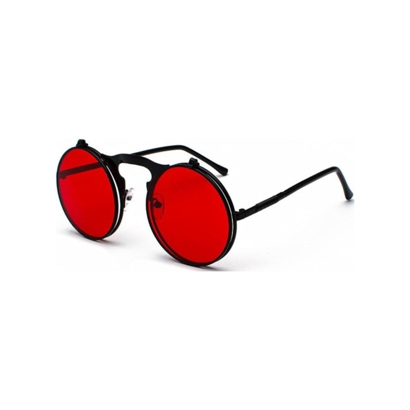Vintage Round Flip-Up Sunglasses