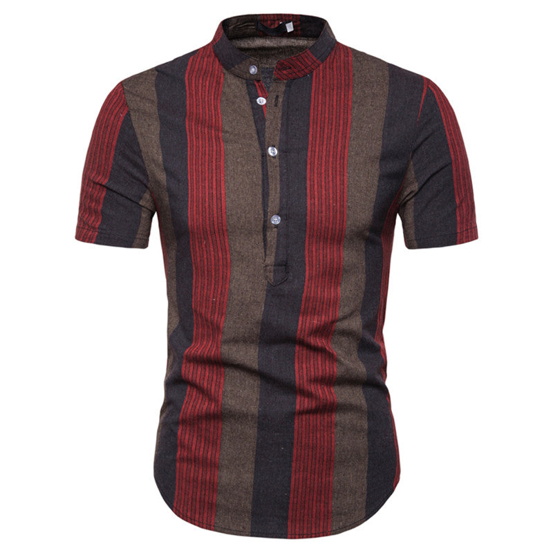 Mixed Stripe Short Sleeve Shirt