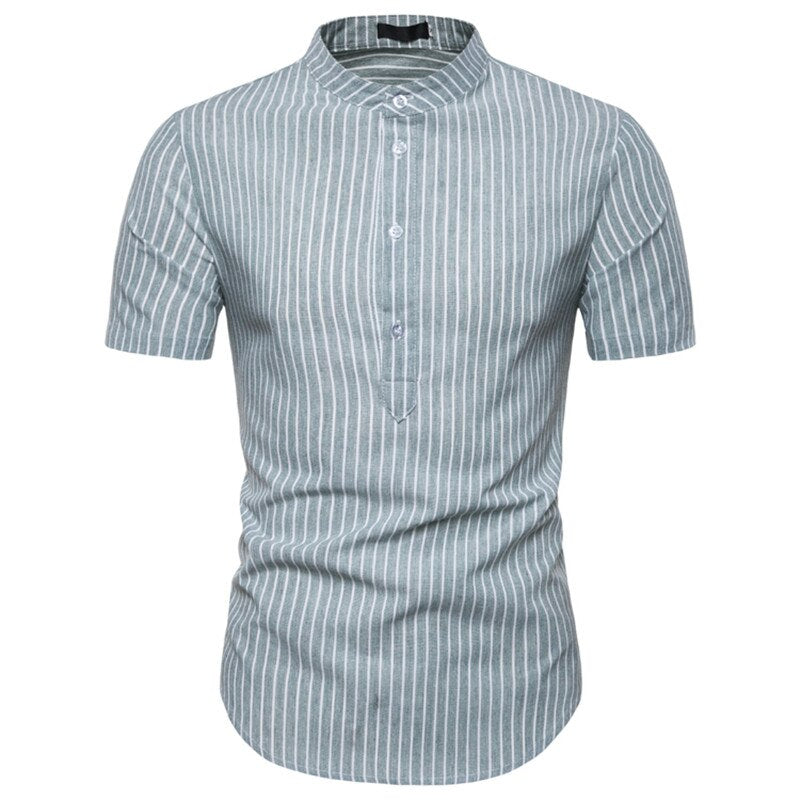 Short Sleeve Grandad Jersey Shirt