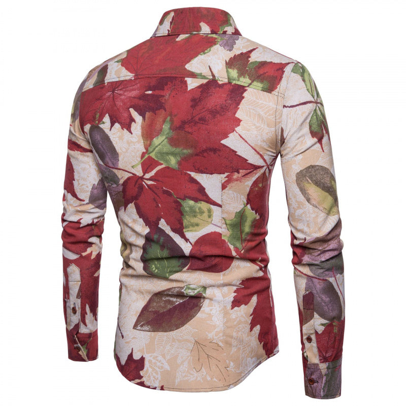 Autumn Leaves Button-Down Shirt