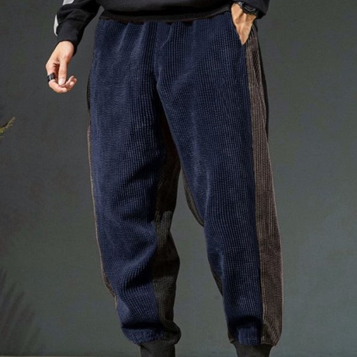 Side Stripe Corduroy Pants
