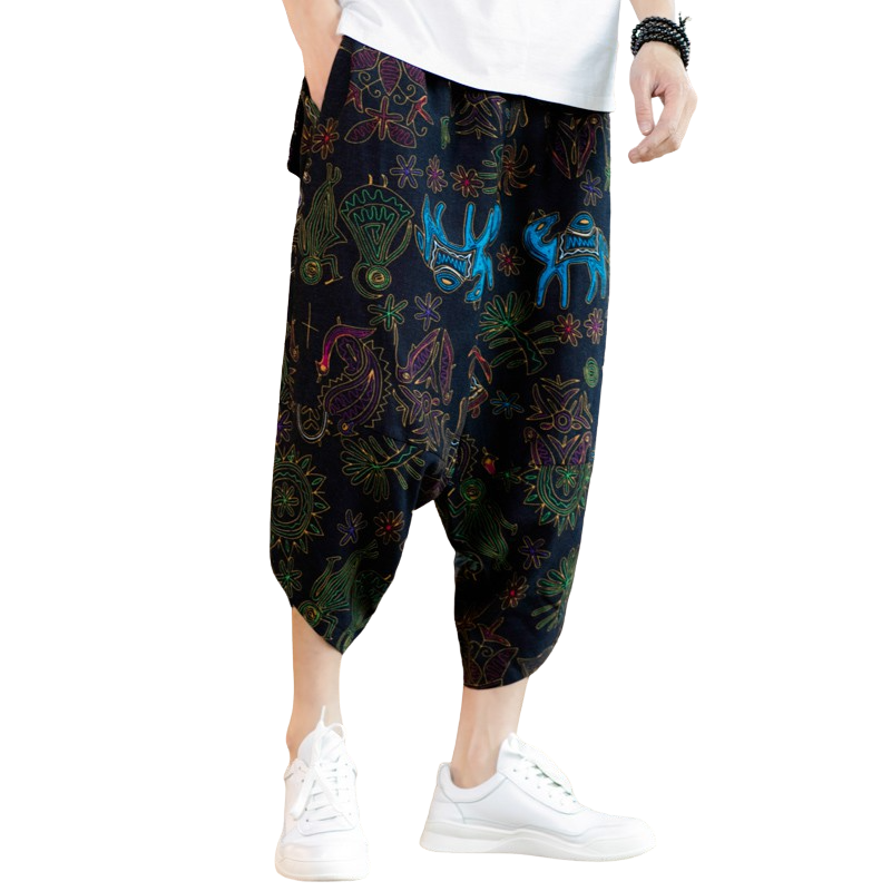 Printed Loose Pants