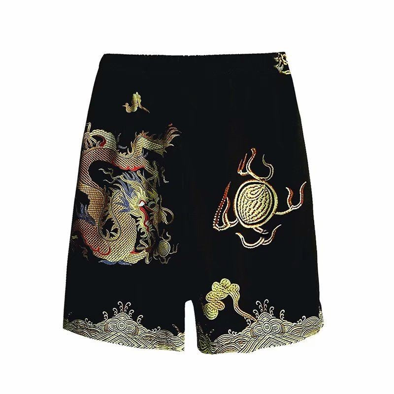Dragon Patterned Shorts