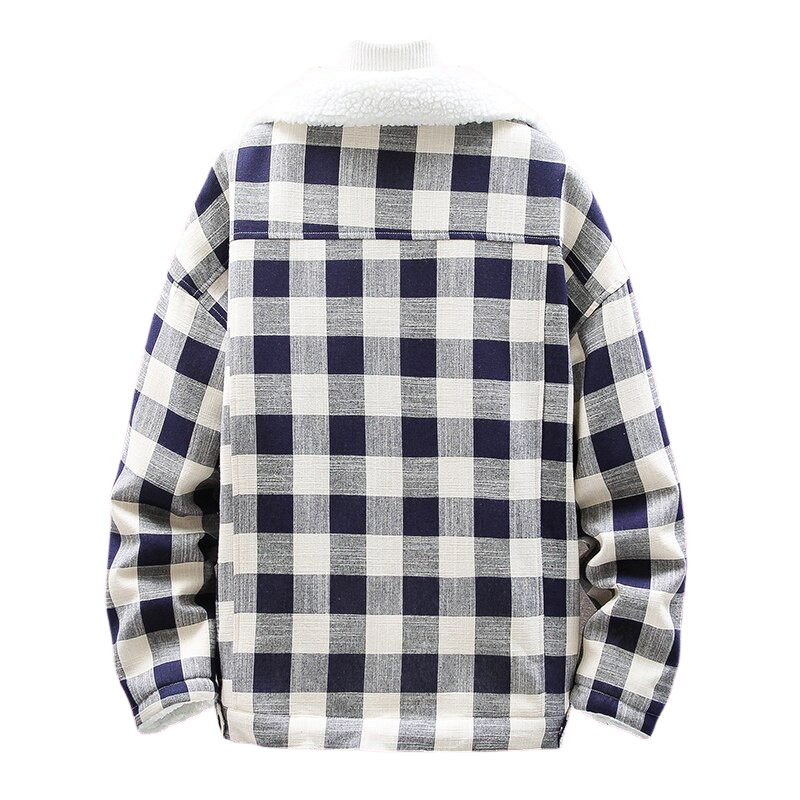 Plaid Chest Pocket Jacket